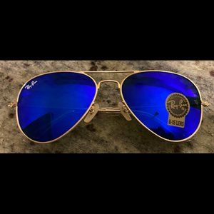 RayBan RB3025 Blue Mirror Aviators - 58MM - New
